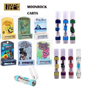 Moonrock Очистить Vape картриджи Упаковка 0,8 мл 1,0 мл Ароматизатор Box MoonRock Тележки Razzle Dazzle Silverback 510 Ceramic 1 грамм Катушка Испаритель Pen