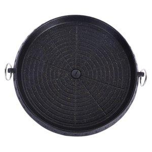 Coreano Tipo senza fumo antiaderente barbecue Piano cottura Grill Roaster per 32 centimetri coperta e nero Outdoor