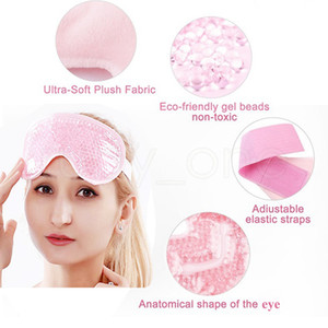 Gel Eye Mask Adjustable Strap for Hot Cold Therapy Soothing Relaxing Beauty Gel Eye Mask Sleeping Ice Goggles Sleeping Mask RRA2193