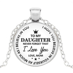 Hot Fashion Classic To My Daughter..love Mom Time Collana pendente in pietre preziose Princess Crown Pendant Keychain Bracelet Girl Holiday Gift