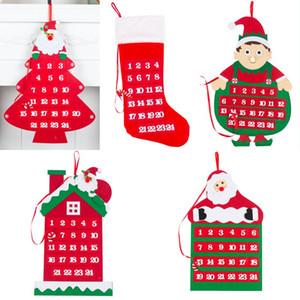Noel Duvar Asma Takvim Merry Christmas Tema sayım Takvim Sigara Dokuma Kumaş Duvar Pencere Asma Dekorasyon