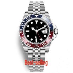 Retro Fashion orologio sportivo meccanico automatico Basilea Red Pepsi TOP Uomo Casual Blu Luminous Affari impermeabile multifunzione Timer Orologio