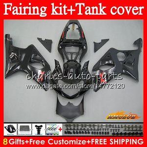Lagerschwarze Bodys + Tank für Suzuki GSX R1000 GSXR 1000 2000 2001 2002 86HC.82 GSX-R1000 K2 GSXR1000 GSXR-1000 00 01 02 Verkleidungsset zum Verkauf
