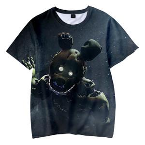 Hot Sale Crianças camiseta 3D cinco noites no Freddys Camisetas Boys / Girls bonito camiseta Kpop FNAF T-shirt MX200509 a roupa do miúdo