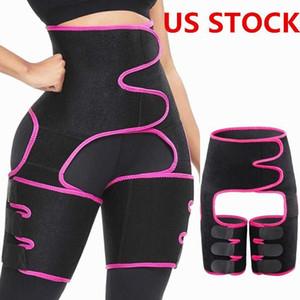 US Stock Hommes Femmes Shapers taille Ceinture Corset Entraîneur ventre Soutien Gorge Soutien du corps Taille réglable Shapers amincissants FY8054