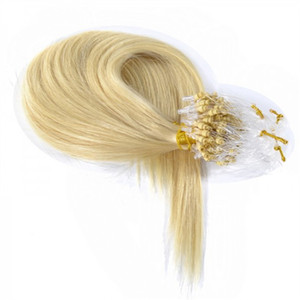 Micro Loop Ring hair extension INDIAN REMY 100% Human Hair Link Extensions 1g s 200s lot, Free DHL