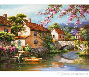 A. High Quality Handpainted HD Print Print Abstract Landscape ArtOil Painting On Canvas Wall Art Home Office Deco l07