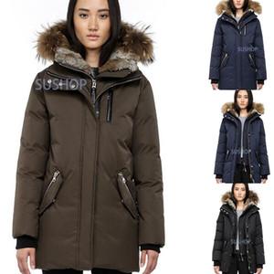Ceketler paltoları sıcak Kadınlar Kış Casual Aşağı Ceket Aşağı Coats Kadın Açık Kürk Yaka Sıcak Tüy elbise Kış Coat