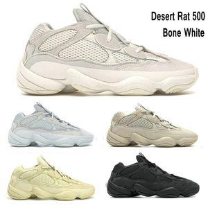 New Bone White DESERT RAT 500 Kanye West Runner hombres zapatos de diseñador para hombre para mujer Utility Black Blush Salt zapatos para correr zapatillas de deporte