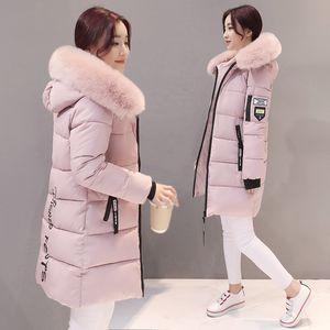 Hiver Femmes Long Veste Slim chaud Designer capuche femmes Manteaux Coton élégant Casual Veste Basic Femme Outwear 2019 KLD1268