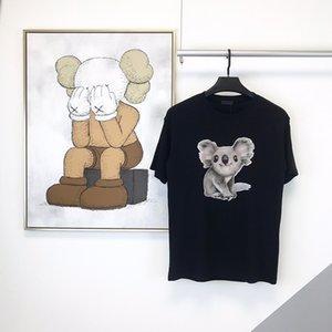 2020 Primavera-Verão Luxo Europa Paris animais urso Koala Camiseta Homens Mulheres Moda camiseta de algodão de manga curta