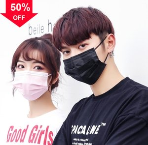 MxSib 50 piece Anti-Pollution 3 Layer dust protection Ear Face Masks Elastic Loop Disposable party Mask Dus