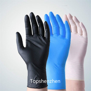 colroful choose Disposable nitrile Gloves Protective anti dust Gloves Universal Household Garden Cleaning Gloves with fast shipping