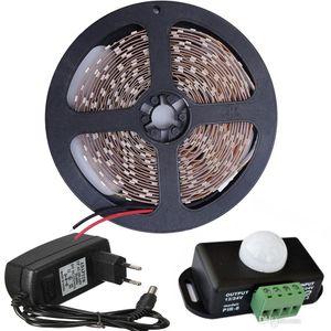 2835 5050 5630 светодиодная лента DC12V 60LEDs/m Гибкая светодиодная лента Light+12V 2A адаптер питания EU/US/UK / AU+PIR датчик переключатель контроллер