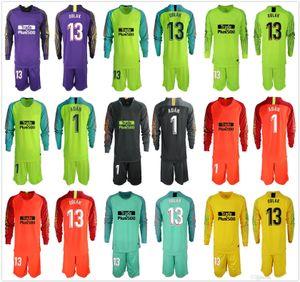 2019 2020 uomini lunghi # 13 oblak portiere maglie ADAN Soccer set 13 Jan Oblak 1 # ADAN GK Jerseys Adulti Football Portiere uniformi