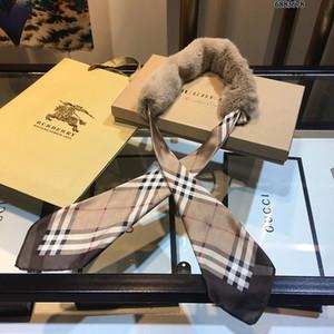 pañuelos de mujer temperamento elegante romántica de citas chal WSJ012 gama alta de cuello de piel bufanda caliente al aire libre