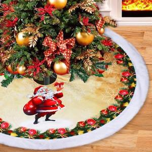 Navidad navidad árbol de la falda falda del árbol inferior decorativa 98cm de espesor de franela de alta calidad para la decoración de Navidad