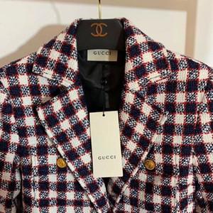 Blazers femmes marque la mode automne 2019 long manteau de vêtements décontractés veste à manches manteau blazer en tweed d'hiver, plus la taille S-L outwear Vêtements femme
