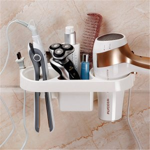 Double qing bathroom traceless stick shelf bathroom multifunctional wall hanging hair dryer rack air tube frame without punching