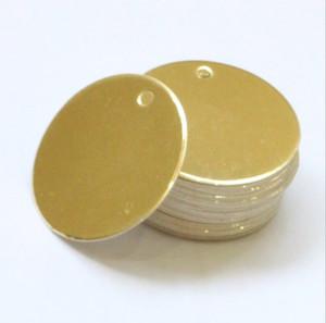 2019 new hot sale 5 cm diy rodada forma em branco dourado / prateado rótulo roupas acessórios decoração tag