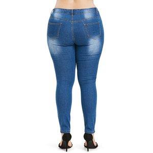 2020 sexy rosegal Plus Size farfalla Distressed ricamati pantaloni dei jeans scarni delle donne alta matita della vita dei pantaloni del Jean del denim donna Pantalone