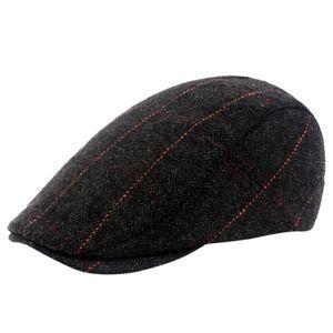 Хлопок Baret Люди Елочки Newsboy Tweed кепка регулируемой мужские береты Hat аксессуары gorras пара Hombre