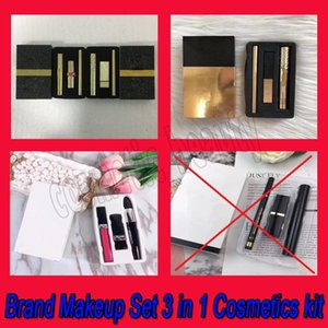 2018 Hot Famous Brand Makeup 3pcs Sets Mascara Lipstick Eyeliner 2 styles 3 in 1 Cosmetics free DHL