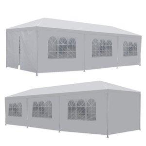 Envíe desde EE. UU. 10 'x 30' 8 lados 2 puertas fiesta boda al aire libre patio tiendas de tiendas de tiendas de trabajo pesado Gazebo Pavilion evento