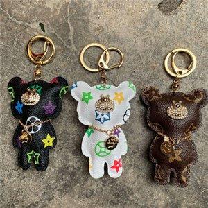 Lüks Tasarımcı Deri ayı kolye Çanta Doll Anahtarlık Cep Telefonu sapanlar Charms Çift Hediye Tide Marka Çanta Aksesuar Yaratıcı Kutusu Yok
