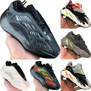 2020 Azael 700 V3 Static Reflective Kids Mesh Breathable Running Shoe Originals Kanye West 700 V2 Kids Buffer Rubber Sports Shoes