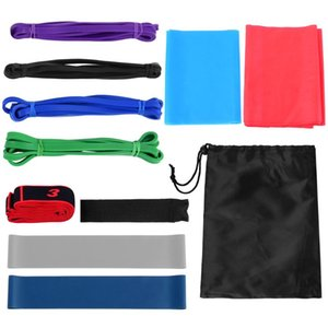 11pcs Fintess Resistance Bands Set Workout Exercise Loop Bands Yoga Stretch Strap with Carry Bag for Home Gym Resistance
