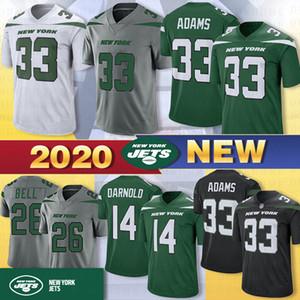 14 Sam Darnold 33 Jamal Adams New Jersey York Jet Calcio 26 Le'Veon Bell 95 Quinnen Williams 57 C.J. Mosley 12 Joe Namath 2020 nuove maglie