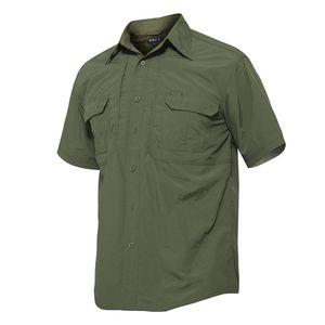 dos homens Quick Dry shirt impermeável ao ar livre Caminhadas shirt tático manga curta Combate Caça camisa masculina camisas