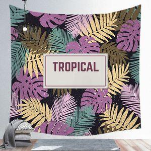 Mode Tapisserie Nordic Green Leaves Tropical mur plante Hanging carrée Ferme Home Décor Tapisseries Tapis Tenture Couvre-lit Tablecloth