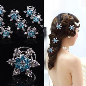 Joyería nupcial mujeres pelo de la boda del copo de nieve pinzas de pelo de la muchacha de Rhineston diamante accesorios del pelo de la horquilla de RRA2600 favor del partido de Cosplay