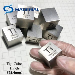 Metal Titanium 25.4mm Density Cube Ti 99.5% Pure for Element Collection Hand Made DIY Hobbies Crafts Display Glass Sealed