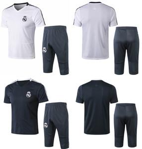 Real Madrid Football Survêtement 19 20 manches courtes survêtements footbal maillots de sport pour hommes et pantalons 3/4 kits de soccer adulte uniformes