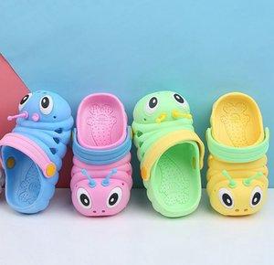 Kid Summer Caterpillar Sandals Slippers Caterpillar Cartoon Anmial Sandals Boys Girls Beach Hole Baby Outdoor Shoes KKA7884