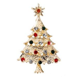 Costume Broche Árvore Fashion Bohemian Christmas Star esmalte Crystal Rhinestone Broches Pin Feminino Bijoux presente DIY Jóias