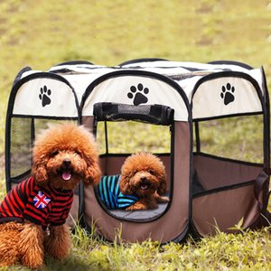 Outdoor Pet Tent Portable Playpen Dog Folding Crate Dog house Puppy Play Pen Soft Kennel Cat Cage Waterproof Bag Foldable Exercise Run cage