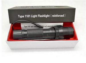 Heißer verkauf neue 1101 takt art edc linternas licht cree led taktische taschenlampe lanterna selbstverteidigung fackel 18650 eingebautes freies verschiffen