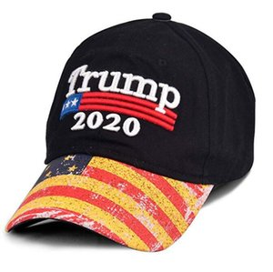 50pcs Embroidery Trump Caps Trump 2020 Make America Great Again Donald Trump Baseball Caps Hats Baseball Caps Adults Sports Hat#265814