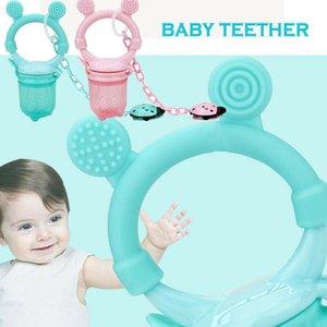 Bebek Molar Teething Oyuncak Doğal Kauçuk diş kaşıyıcınız emziği Şekli + anti zincir 3 Boyut S L