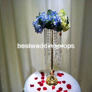 New Wedding Road Lead Tall Acrylic con Crystal Europe Wedding Centerpiece Evento Party Deco Mariage best0591
