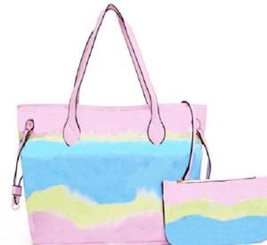 2020 Горячие продавать новый стиль Женские красочные случайные сумки, нерегулярные волнообразные сумки Zig Zag моды, женщин Totes мешочками изменения
