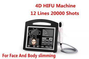 Новый профессиональный 3D и 4D 12 строк максимум 20000 выстрелов интенсивность сфокусировала машину ультразвука HIFU SMAS-лифтинг на лицо тело уменьшая удаление морщинки