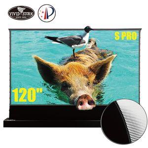 Vividstorm S Screen de plancher électrique de 120 pouces pour Ust ALR Projecteur laser motorisé ultra courte jet de film VSDSTUST120H