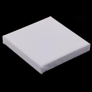 10x10cm / x 4 pouces 4 pouces Mini Blank Canvas Stretched Enfants main Artiste Panneau de toile pour la peinture Artisanat Dessin Art Fournitures