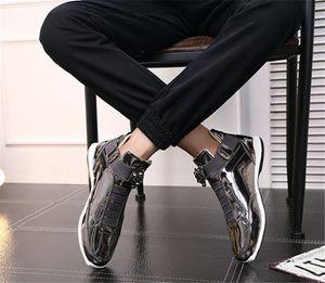 sapatos 2020 Hot Sale coreana na moda da grife s prata ouro negro brilhante brilhante Sr. elegantes sapatos tapete vermelho preferenciais