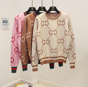 Шерсть многоцветный вискоза новые женщины вязаные свитера женщина пуловер жаккард вязать топы с полосами трикотаж блузка рубашки верхняя одежда свитер
